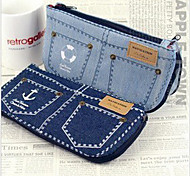 Creative Jeans Design High-capacity Pen Bag(Random Color)
