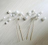 Damen Künstliche Perle Kopfschmuck-Hochzeit Besondere Anlässe Haarklammer 6 Stück