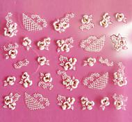 Design 3D del modello della Rosa intaglio Nail Art Stickers