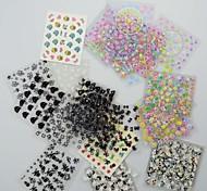 50PCS 3D дизайн ногтей наклейки Советы для маникюра (Смешанные Случайные Стили)