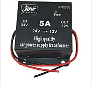 economico -JD1205 DC 24V a 12V Power Supply Converter - Nero