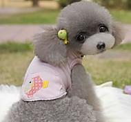 Недорогие -Собака Футболка Одежда для собак Синий Розовый Костюм Для домашних животных