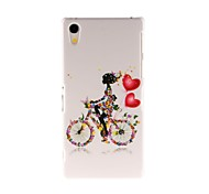 Kinston Bicycle Girl Pattern Plastic Hard Case for Sony Xperia Z2