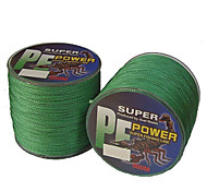 cheap -500M / 550 Yards PE Braided Line / Dyneema / Superline Fishing Line Green 18LB / 20LB / 28LB 0.16,0.2,0.23 mm ForSea Fishing / Freshwater