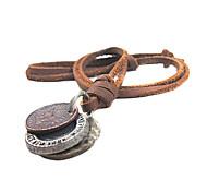 Недорогие -Ожерелья с подвесками Бижутерия Кожа Медь Уникальный дизайн бижутерия Мода Бижутерия Назначение Для вечеринок Спорт Новогодние подарки