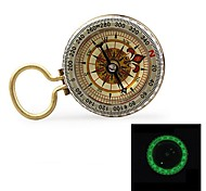 "1.5"" Glow-in-the-Dark Stainless Steel Compass w/ Damping Oil - Golden"