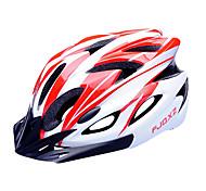 FJQXZ EPS + PC красный и белый интегрального под давлением Велоспорт Шлем (18 Вентс)
