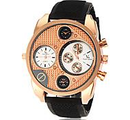 Мужская Военный стиль Dual Time зоны Черный силиконовой лентой наручные часы (разных цветов)