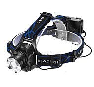 Headlamps Headlight LED 1200 lm 3 Mode Cree XM-L T6 Adjustable Focus Rechargeable Waterproof Zoomable for Multifunction Batteries not