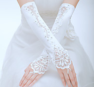 cheap -Tulle Elbow Length Glove Bridal Gloves Party/ Evening Gloves