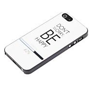 быть счастливым защитным жестким задним корпусом для iphone 5 / 5s iphone cases