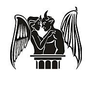 Angel and Demon Pattern Decorative Car Sticker
