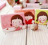 Cartoon kleine Mädchen Muster Kreditkarte Ganzkörper Fall (zufällige Farbe)