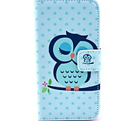 Sleeping Owl Cartoon Pattern PU Leather with Stand Case Cover for Sony Xperia Z1 Mini Compact D5503