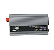 Carking™ Universal Zinc Alloy 1200W DC 12V to AC 220V Power Inverter with Car Lighter - Silver