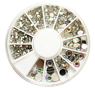 500PCS 6-Размер Arcylic Алмаз Nail Art Декорация