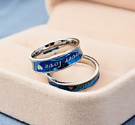 Korean Style Forever Love Titanium Steel Couple Rings Promis rings for couples
