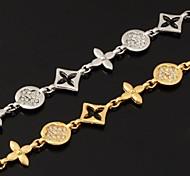 u7® marque de bijoux de bracelets de haute qualité fantaisie 18k platine plaqué or chaînes à maillons pour les femmes
