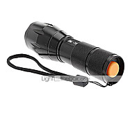 UltraFire A100 LED Flashlights / Torch LED 2000/1200/1600 lm 5 Mode Cree XM-L T6 with Battery and Charger Zoomable Nonslip grip
