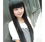 Capless High Temperature Fibre Long Straight Synthesis Hair Full Bang Wigs 3 Colors Available