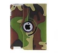 cheap -Case For iPad 4/3/2 with Stand 360° Rotation Pattern Full Body Cases Camouflage Color PU Leather for iPad 4/3/2