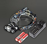 RJ-3000 Налобные фонари Зарядные устройства LED 4000 Люмен 4.0 Режим Cree XM-L T6 Перезаряжаемый ударный корпус для