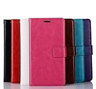 Pour Coque LG Portefeuille Porte Carte Avec Support Clapet Coque Coque Intégrale Coque Couleur Pleine Dur Cuir PU pour LG LG G3
