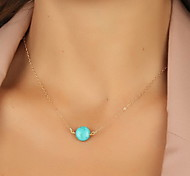 Women's Pendant Necklaces Jewelry Resin Turquoise Alloy Basic European Costume Jewelry Jewelry For Party Daily Casual