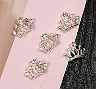 Недорогие -10шт крошечные ленты корона стразы 3d сплава украшение искусства ногтя