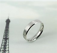 Fashion Silver Titanium Steel Pinky Rings