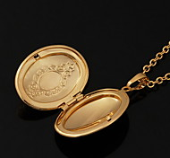 cheap -Gold Plated 18K Gold Pendant Necklace Lockets Necklace - Circle Geometric Necklace For Wedding