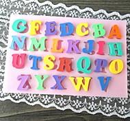 Multicolor Capital Letter Shaped Bake Fandant Cake Mold(L10cm*W6.5cm*H0.7cm)