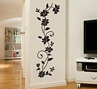 Botanical Romance Fashion Wall Stickers Plane Wall Stickers Decorative Wall Stickers,Vinyl Material Washable Removable Home Decoration