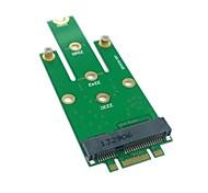 economico -m.2 ngff pci-e 2 corsie dito d'oro pin a 50mm mini-PCIe mSATA (18 + 8) ssd hard disk pcba 0.05m 0.15ft