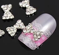 10шт Bling алмазов галстук-бабочка металла 3d сплава украшения искусства ногтя