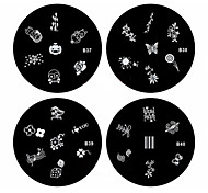 cheap -nail art Stamping Plate Abstract Classic High Quality Daily