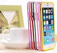 sin respaldo de parachoques del marco del tpu híbridos y cubierta de la PC para el iphone 6 (colores surtidos)