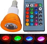abordables -YWXLIGHT® 250-300 lm E14 Focos LED 1 leds LED de Alta Potencia Control Remoto RGB AC 85-265V