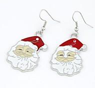 Недорогие -Клаус серьги Санта