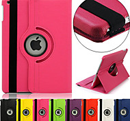cheap -Case For iPad Air with Stand Auto Sleep / Wake 360° Rotation Full Body Cases Solid Color PU Leather for iPad Air