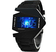 Homme Montre de Sport Montre Bracelet Montre numérique Numérique Alarme Calendrier Chronographe LED LCD Silikon Bande Noir Blanc Bleu