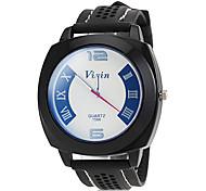 Недорогие -мужской спортивный циферблат черный силиконовой лентой наручные часы (ассорти)