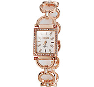Недорогие -Женские Японский кварц Кварцевый Японский кварц Нержавеющая сталь Группа Элегантные часы Серебристый металл Золотистый Розовое золото
