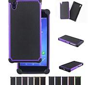 Недорогие -два в одном футбол зерна конструкция ПК и силиконовый чехол для Sony Xperia z2 (ассорти цветов)