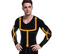 человек похудения Термобелье рубашка с длинным рукавом профилировщика тела фирма животик живот бюст нейлоновые черные ny102