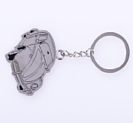 cheap -The Car Shape Metal Silver Keychain Toys