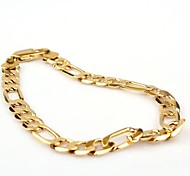cheap -Men's Gold Gold Plated Chain Bracelet - Classic Fashion Jewelry Golden Bracelet For Party Daily Casual