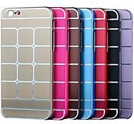 ultradünnen Karomuster Metall harte Abdeckung für iphone 6 (verschiedene Farben)