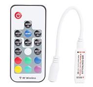 Недорогие -4a 3-канальный мини RGB LED РФ беспроводной пульт с дистанционным управлением для 4-контактный RGB полосы привело света (DC 5 ~ 24V)