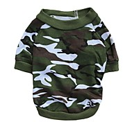 cheap -Cat Dog Shirt / T-Shirt Dog Clothes Breathable Camouflage Camouflage Color Costume For Pets